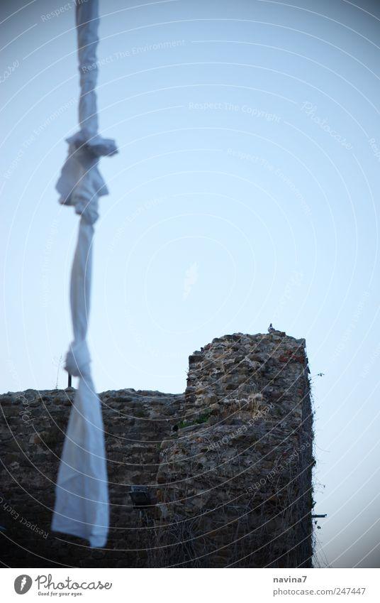 Fluchtweg Wand Freiheit Mauer Turm Ruine Leiter