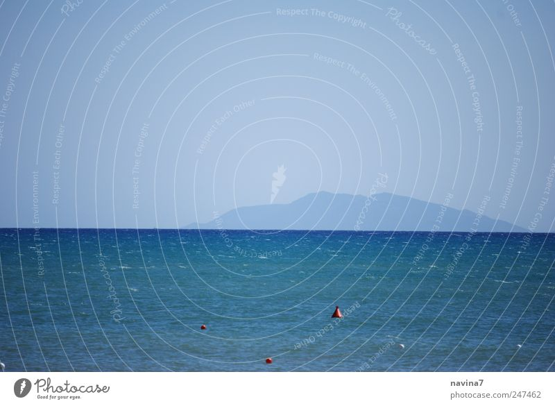 Äh...Älba ?? Himmel blau Meer Ferien & Urlaub & Reisen ruhig Ferne Küste Horizont Sommerurlaub Kreuzfahrt