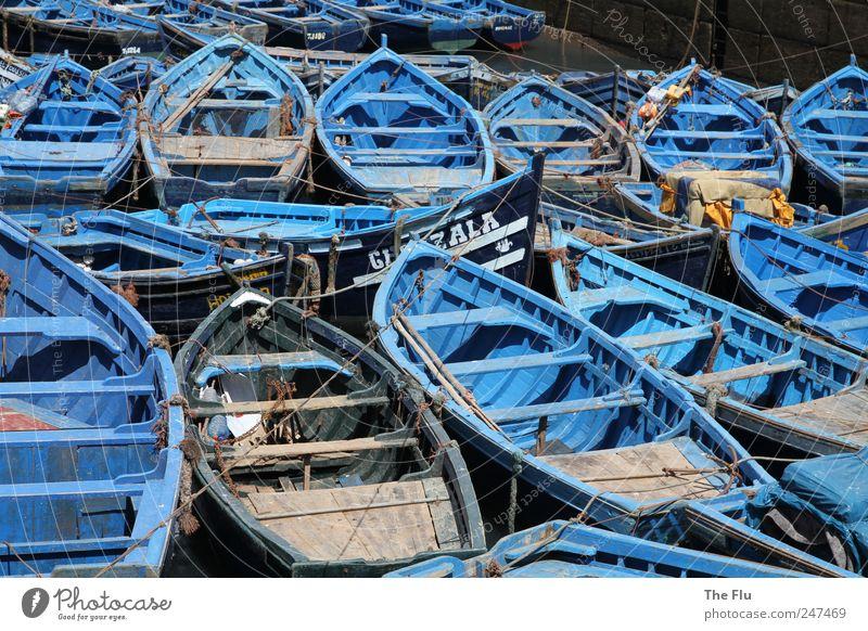 Bootspartie Fisch Angeln Ferien & Urlaub & Reisen Sommer Meer Fischer Hafen Wasser Küste Fischerdorf Schifffahrt Fischerboot Holz authentisch exotisch blau