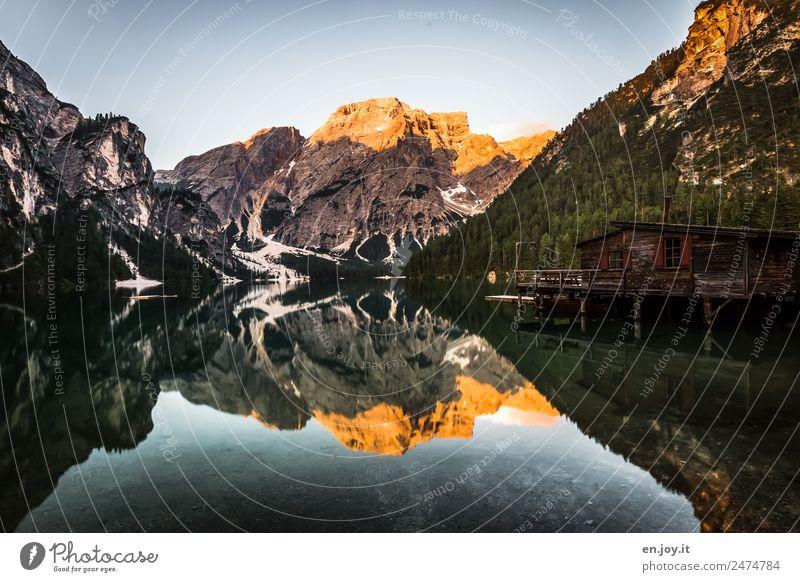 Einsamkeit Ferien & Urlaub & Reisen Tourismus Ausflug Abenteuer Ferne Freiheit Sommer Sommerurlaub Berge u. Gebirge Natur Landschaft Sonnenaufgang