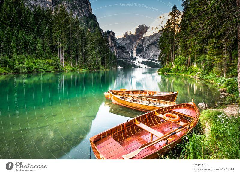 Märchensee Freizeit & Hobby Ferien & Urlaub & Reisen Tourismus Ausflug Abenteuer Sommer Sommerurlaub Berge u. Gebirge Natur Landschaft Wald Alpen Dolomiten