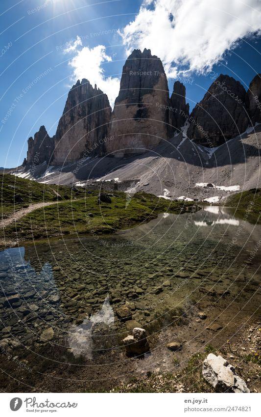 Berg und Tal Natur Ferien & Urlaub & Reisen Sommer Landschaft Berge u. Gebirge Umwelt Tourismus See Felsen Ausflug Freizeit & Hobby wandern Abenteuer Italien