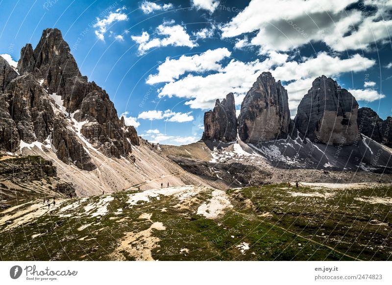 berühmt Natur Ferien & Urlaub & Reisen Sommer Landschaft Ferne Berge u. Gebirge Wege & Pfade Tourismus Felsen Ausflug Freizeit & Hobby wandern Abenteuer Italien