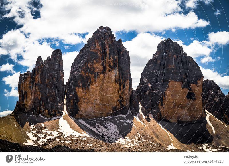 2999 Natur Ferien & Urlaub & Reisen Landschaft Wolken Berge u. Gebirge Umwelt Tourismus Felsen Ausflug wandern Abenteuer Italien Spitze Klima Gipfel Alpen