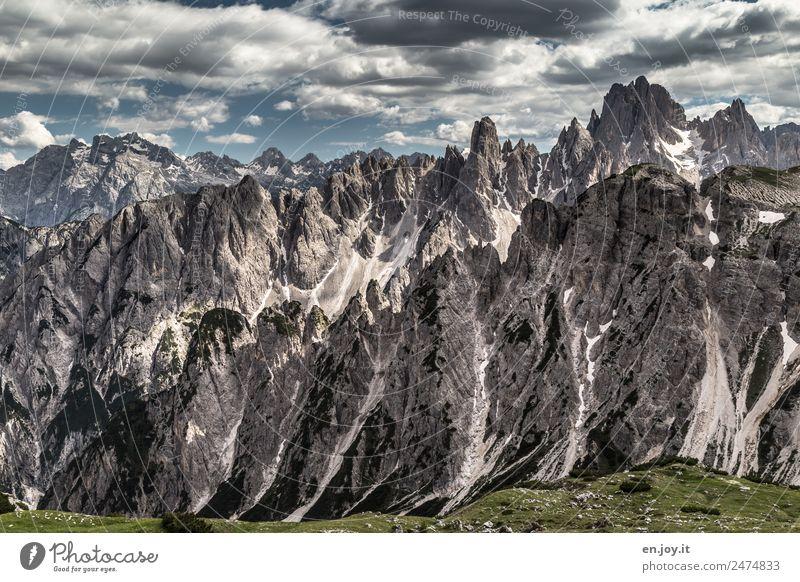 Herausragend Natur Ferien & Urlaub & Reisen Landschaft Ferne Berge u. Gebirge Felsen Ausflug wandern Abenteuer Vergänglichkeit Spitze Klima Gipfel Alpen