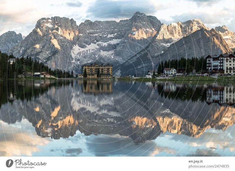 verwirrend Natur Ferien & Urlaub & Reisen Sommer Landschaft Erholung Haus Wolken ruhig Berge u. Gebirge Frühling Tourismus See Felsen Ausflug Europa Italien