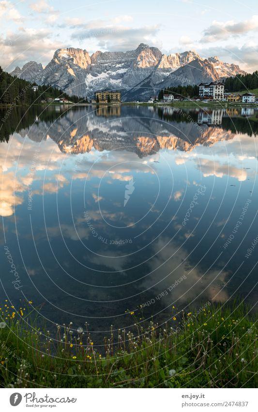 Gegenüber Himmel Natur Ferien & Urlaub & Reisen Sommer Landschaft Erholung ruhig Ferne Berge u. Gebirge Gebäude Tourismus See Ausflug Idylle fantastisch Alpen