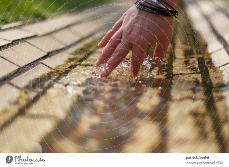 Plitsch-Platsch Maniküre Wellness Wohlgefühl Mensch Hand Wasser Sommer Schönes Wetter Accessoire Schwimmen & Baden berühren streichen tauchen Flüssigkeit frisch