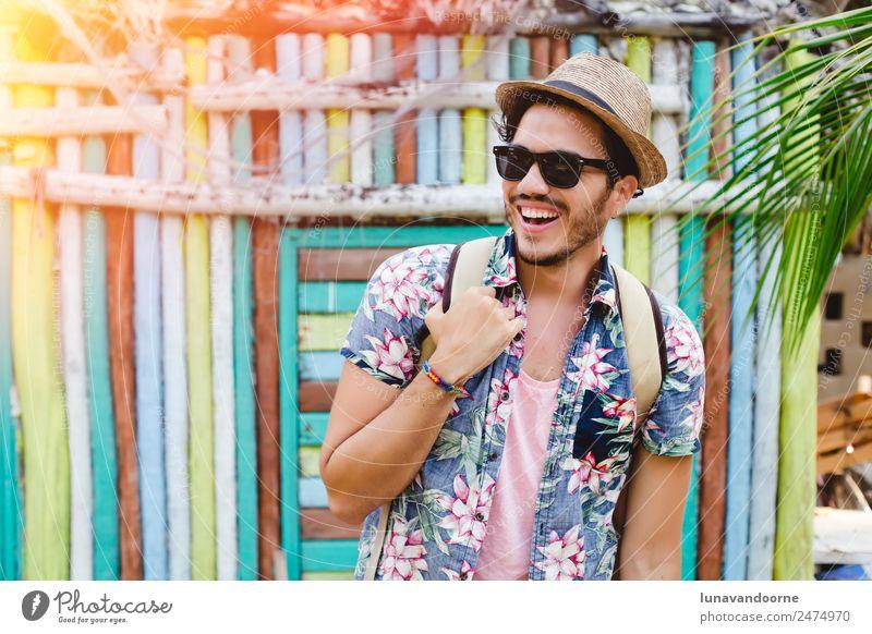 Mensch Natur Ferien & Urlaub & Reisen Jugendliche Mann Sommer Erholung 18-30 Jahre Erwachsene Lifestyle Freiheit Freizeit & Hobby Fröhlichkeit Aktion Abenteuer