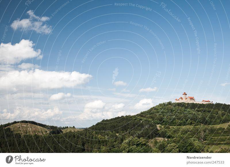 Thüringen Tourismus Ausflug Kultur Landschaft Himmel Wolken Schönes Wetter Wald Sehenswürdigkeit Wahrzeichen Macht planen Tradition Stadt Vergangenheit