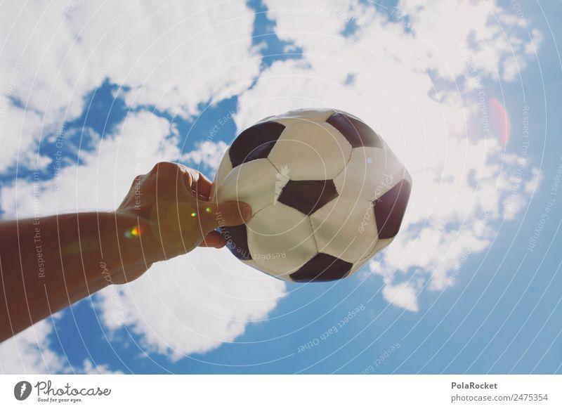 #A# WM-Himmel Kunst ästhetisch Fußball Tischfußball Fußballtraining kaputt Luft Weltmeisterschaft wm 2018 festhalten Erscheinung Schwarzweißfoto Hand Farbfoto