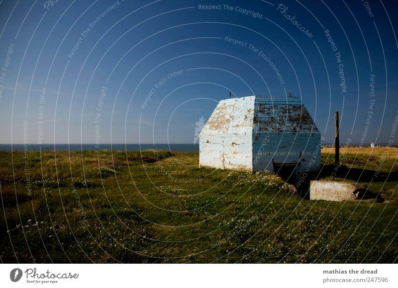 DÄNEMARK - XXIX Umwelt Natur Landschaft Pflanze Himmel Wolken Horizont Sommer Schönes Wetter Gras Wiese Menschenleer Bauwerk Gebäude Mauer Wand Fassade