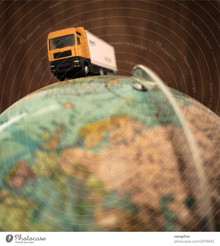 Lastwagen, Globus & Transport Ferien & Urlaub & Reisen Straße Business Erde Verkehr Europa Baustelle Güterverkehr & Logistik fahren Dienstleistungsgewerbe