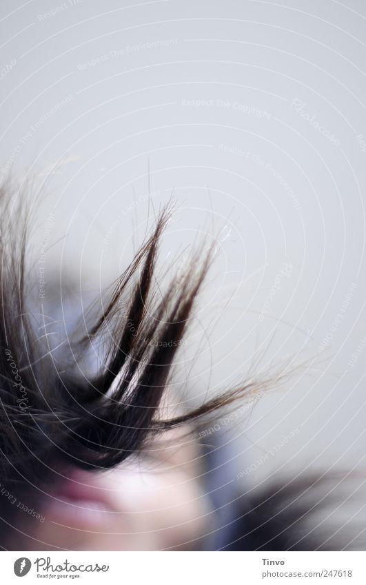 little bit of happiness feminin Junge Frau Jugendliche Erwachsene Haare & Frisuren Gesicht 1 Mensch brünett Bewegung Tanzen außergewöhnlich frei Freundlichkeit