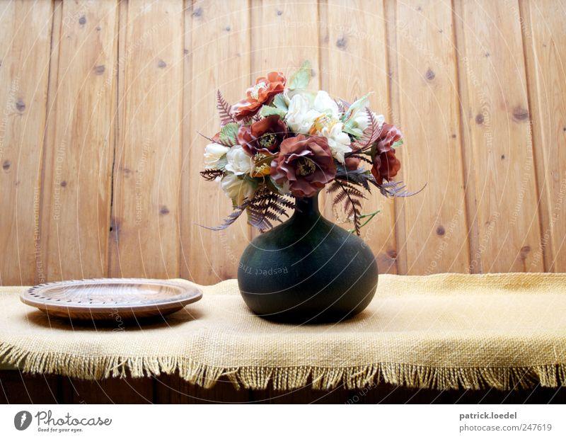 Tu Huus alt Blume ruhig gelb Erholung Holz braun Wohnung authentisch Häusliches Leben retro Dekoration & Verzierung Mitte Duft Blumenstrauß Decke