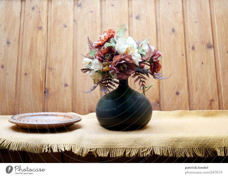 Tu Huus Erholung ruhig Häusliches Leben Wohnung Dekoration & Verzierung Vase Gesteck Holzwand Blume Steinhuder Meer alt authentisch Duft Originalität retro