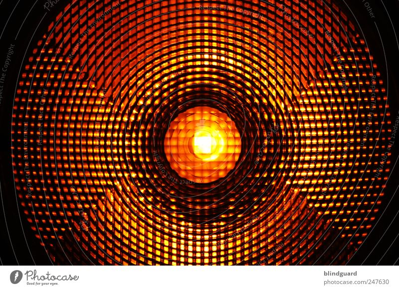 Warning weiß rot schwarz gelb hell Kreis Sicherheit Baustelle leuchten Kunststoff Straßenverkehr Verkehrsschild Absicherung Verkehrszeichen Prisma Warnleuchte
