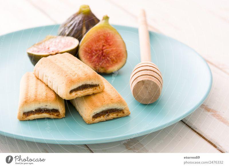 Gesunde Ernährung Foodfotografie Gesundheit Holz Lebensmittel Frucht frisch süß Dessert Vitamin Snack Plätzchen tropisch roh Feige