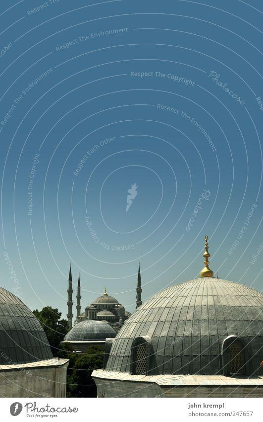 75C Istanbul Türkei Hauptstadt Stadtzentrum Bauwerk Gebäude Architektur Kuppeldach Minarett Sehenswürdigkeit Wahrzeichen Denkmal Hagia Sophia Blaue Moschee