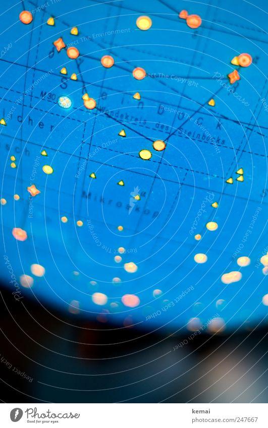 600 Sterne Globus Sternenhimmel Sternenglobus Sternbild Steinbock leuchten glänzend blau gelb Astrologie Astronomie Licht Lichtfleck Tierkreiszeichen Geburtstag