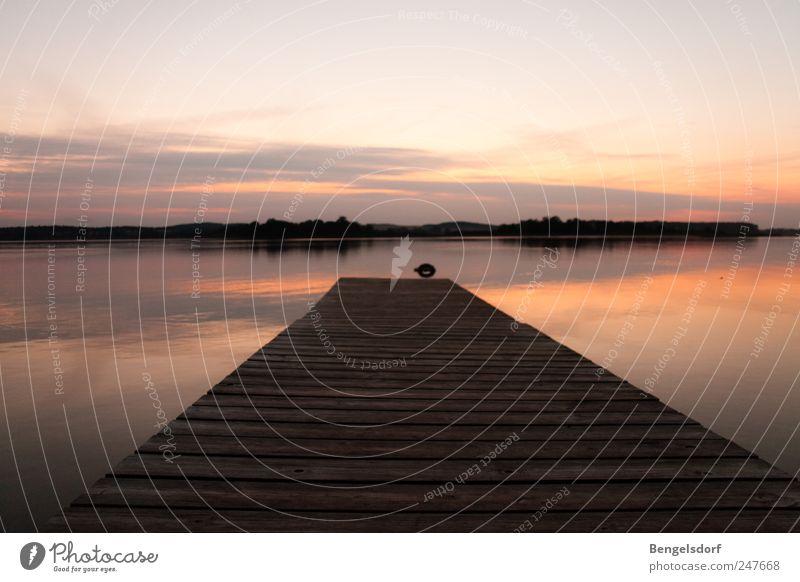 still ruht Himmel Natur Wasser Sommer Ferien & Urlaub & Reisen Wolken ruhig Einsamkeit Ferne Erholung Freiheit See Zufriedenheit Ausflug Tourismus Steg