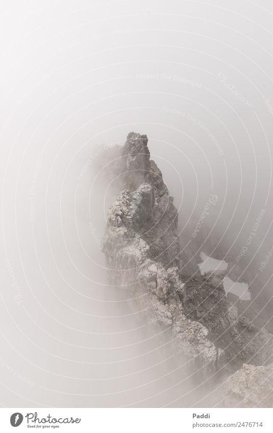 Nebelgipfel Sport wandern Berge u. Gebirge Bergsteigen Umwelt Natur Landschaft Wolken Wetter schlechtes Wetter Wind Gipfel Abenteuer Angst erleben Watzmann