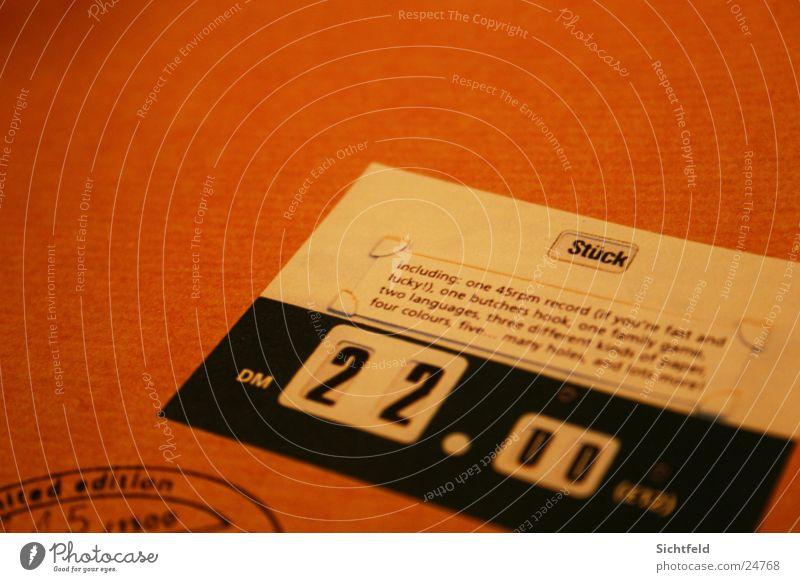 Stück in DM braun Schilder & Markierungen Papier Postkarte Karton Zeitschrift Symbole & Metaphern Stempel Preisschild Druckerzeugnisse Fototechnik
