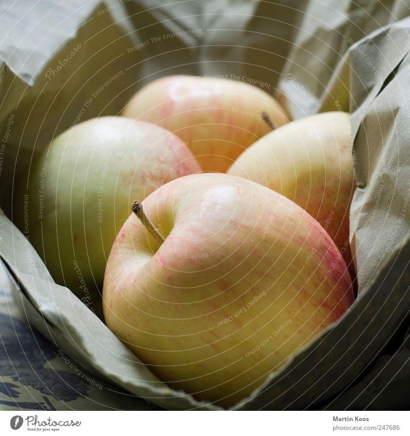 Äpfel Lebensmittel Frucht Apfel Ernährung Bioprodukte Vegetarische Ernährung Gesundheit lecker natürlich rund sauer süß Farbfoto Innenaufnahme Nahaufnahme