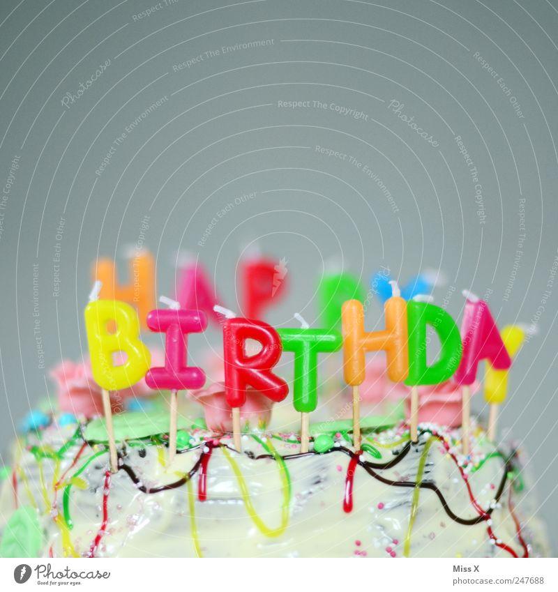 Für den Buddy Farbe Ernährung Lebensmittel Feste & Feiern Geburtstag Fröhlichkeit süß Kindheit Kerze Dekoration & Verzierung Kitsch niedlich Kuchen lecker Süßwaren Schokolade