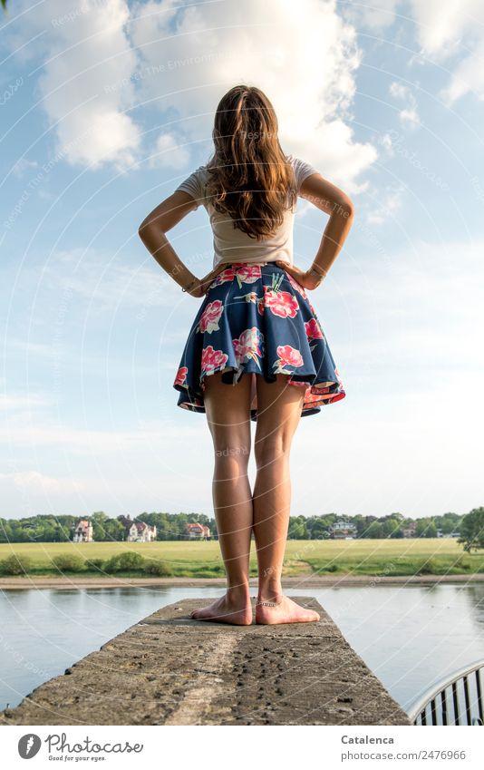 Was wenn ... | Gedankenspiel Mensch Himmel Sommer schön Wasser Landschaft Baum Haus Erholung Wolken feminin Wiese Küste Gras Freiheit Stimmung