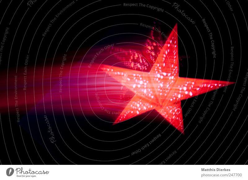 Aus Weihnachten & Advent schön rot Bewegung Hintergrundbild Stern Geschwindigkeit Stern (Symbol) Dekoration & Verzierung violett fantastisch Zeichen leuchten Postkarte exotisch