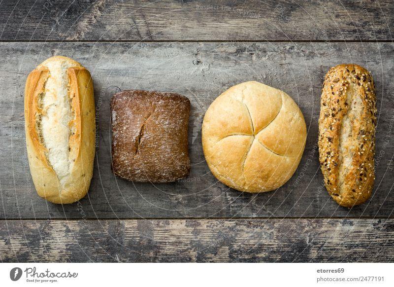 Gesundheit Gesundheitswesen Lebensmittel außergewöhnlich braun Ernährung lecker Brot Backwaren Diät Vegetarische Ernährung Holztisch Verschiedenheit Teigwaren