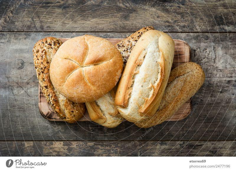 Gesunde Ernährung weiß Essen Gesundheit Holz Lebensmittel braun frisch Frühstück Backwaren Brot Abendessen Konsistenz Mehl organisch