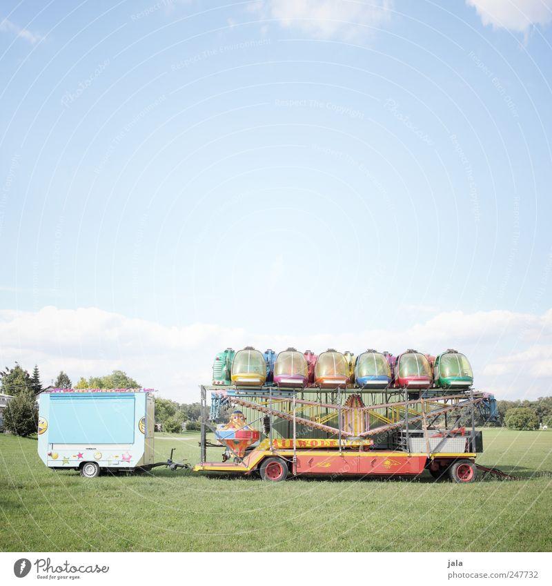airwolf Himmel grün Baum blau Pflanze Wiese Gras Sträucher parken Schönes Wetter Anhänger Fahrgeschäfte