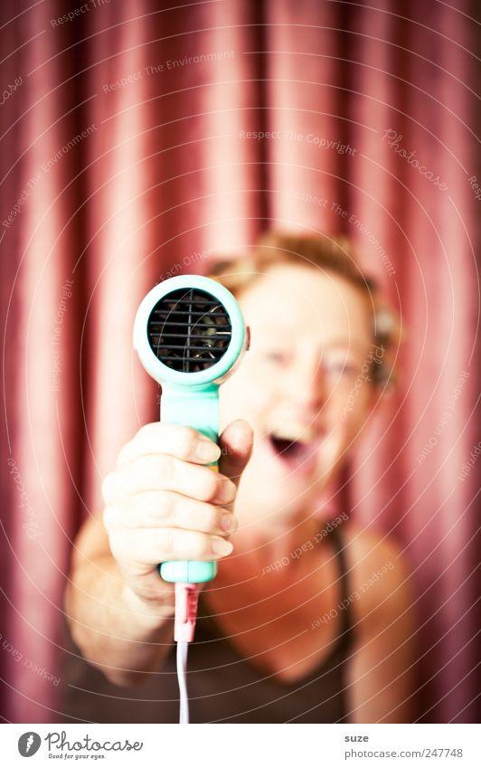 *1.500* Hände hoch! Mensch Frau Hand schön Freude Erwachsene Haare & Frisuren lachen Stil Luft lustig Freizeit & Hobby rosa Lifestyle Show festhalten