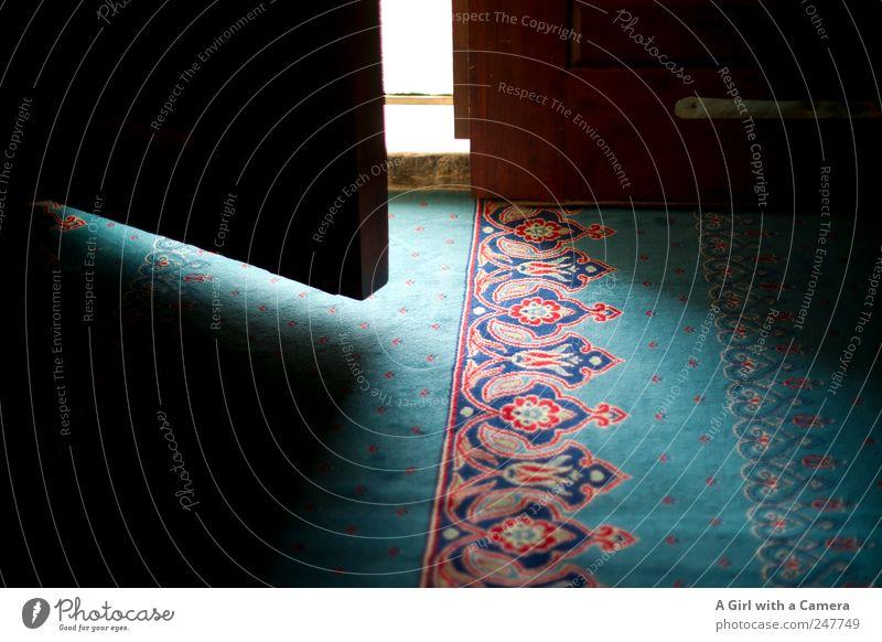 the door to Islam Gebäude Tür Treppe offen Kirche weich leuchten Bauwerk türkis Sehenswürdigkeit Teppich Türkei Spalte aufmachen Willkommen Altstadt