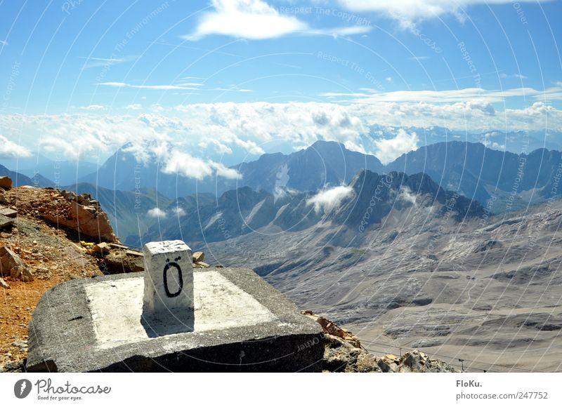 Wo gehts denn hier nach Deutschland? Himmel Natur blau Sommer Ferien & Urlaub & Reisen Wolken Ferne Freiheit Berge u. Gebirge Landschaft Umwelt Erde Ausflug