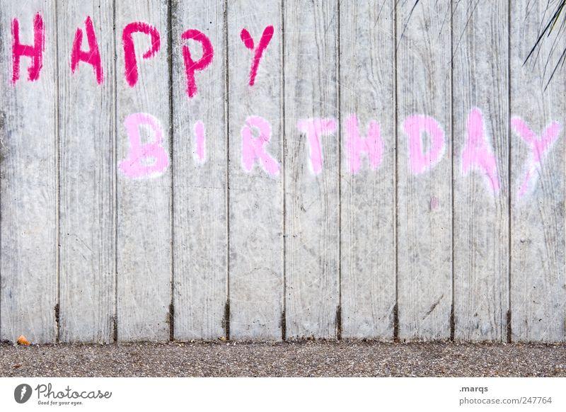 to you rot Wand Graffiti grau Mauer Feste & Feiern rosa Geburtstag Schriftzeichen Lifestyle Straßenkunst Grafik u. Illustration Happy Birthday