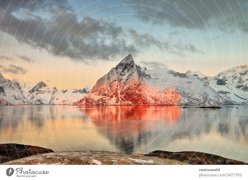 Himmel Natur Ferien & Urlaub & Reisen blau schön Wasser grün Sonne Landschaft weiß rot Erholung Einsamkeit Wolken ruhig Winter