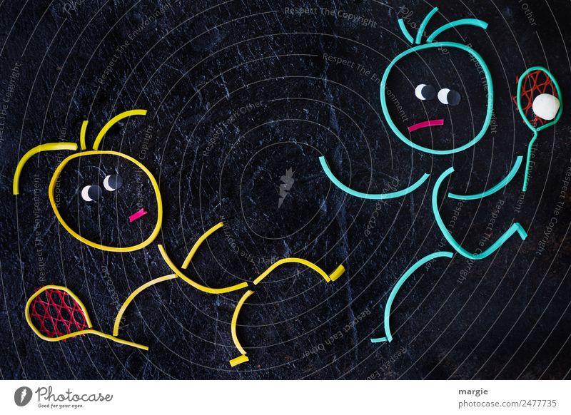 Gummiwürmer: Sport ist.... Frau Mensch Mann blau schwarz Erwachsene gelb feminin Spielen Freizeit & Hobby maskulin Fitness Sportmannschaft Ball Sport-Training