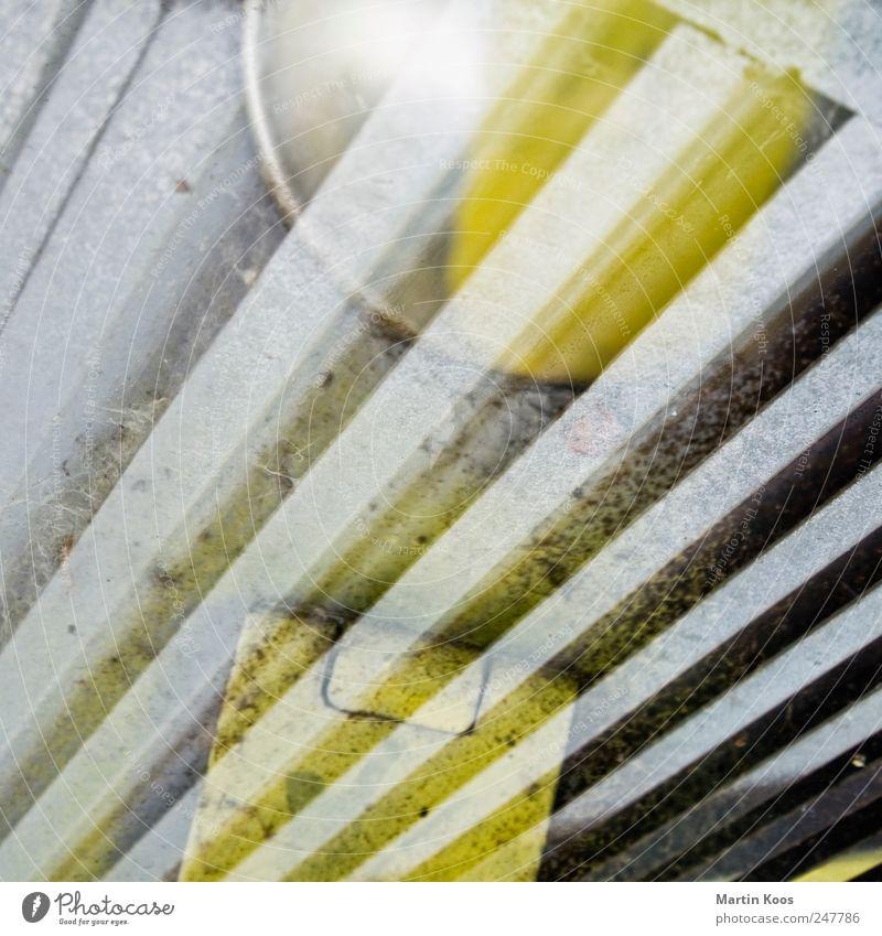 Und Tschüss FDP! gelb Graffiti Metall Linie Tür Kraft Design ästhetisch Perspektive Wandel & Veränderung Zeichen Kreativität chaotisch Schloss Gitter