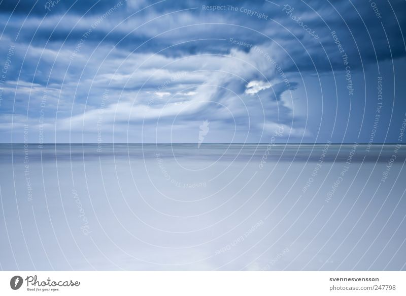 Das Meer in mir Umwelt Natur Wolken Gewitterwolken Ostsee blau Mecklenburg-Vorpommern Wetter Horizont Küste maritim Naturgewalt Farbfoto Außenaufnahme