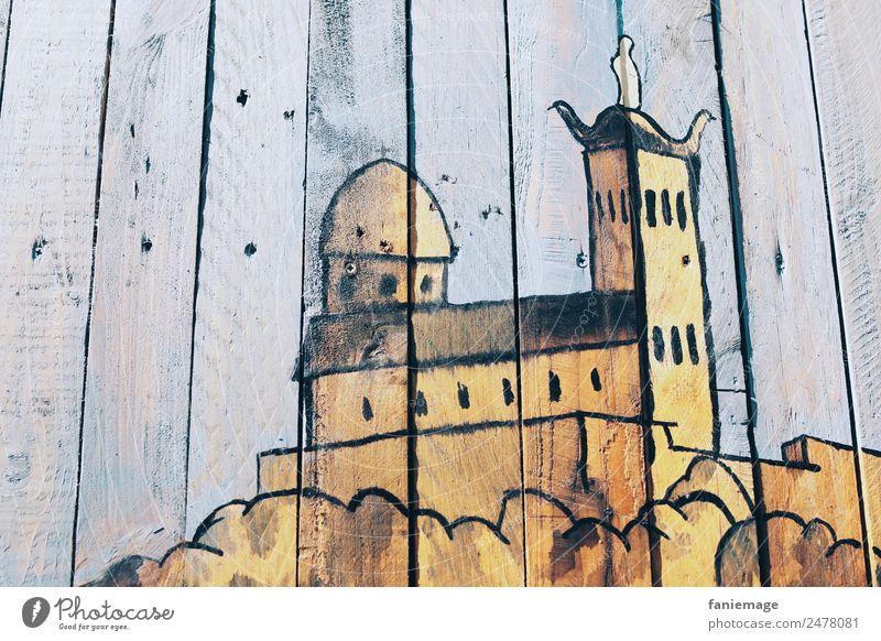 Street Art Notre Dame de la Garde Stadt Hafenstadt Stadtzentrum Altstadt Mauer Wand ästhetisch Straßenkunst Kathedrale Marseille Provence paca Südfrankreich