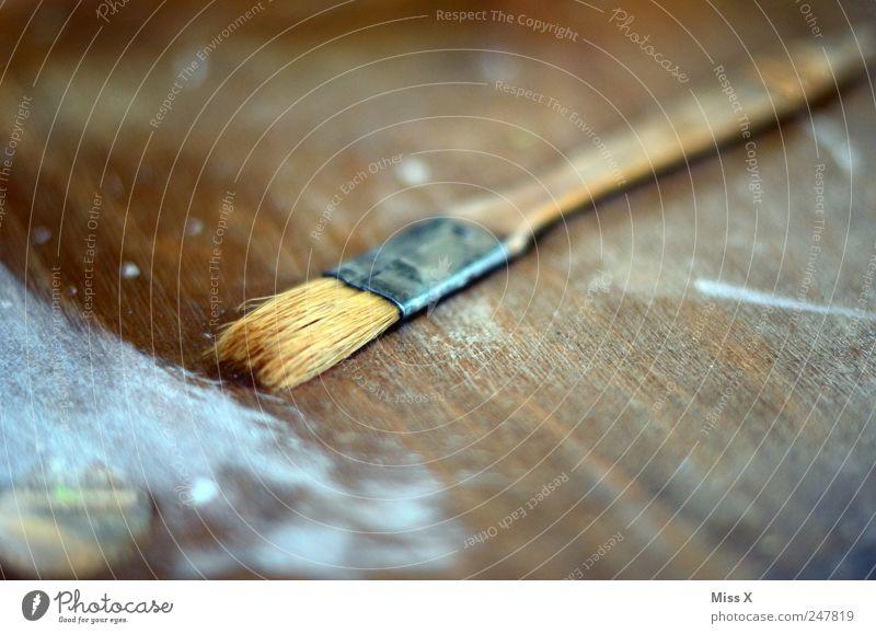 Anstrich Freizeit & Hobby Renovieren Kunst Künstler Maler Gemälde alt dreckig dunkel Pinsel streichen Handwerker Farbstoff Farbe verschönern lackieren