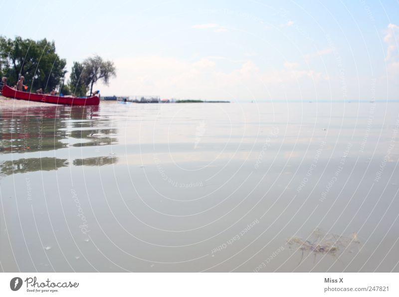 Kanu Himmel Natur Wasser Sommer Strand Ferien & Urlaub & Reisen Meer Landschaft Küste Wasserfahrzeug See Tourismus Schwimmen & Baden Bucht Seeufer