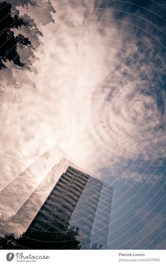 Contact Himmel Wolken Ferne Freiheit Architektur Gebäude Luft Wetter Horizont Freizeit & Hobby Ausflug Tourismus Netzwerk einzigartig Urelemente