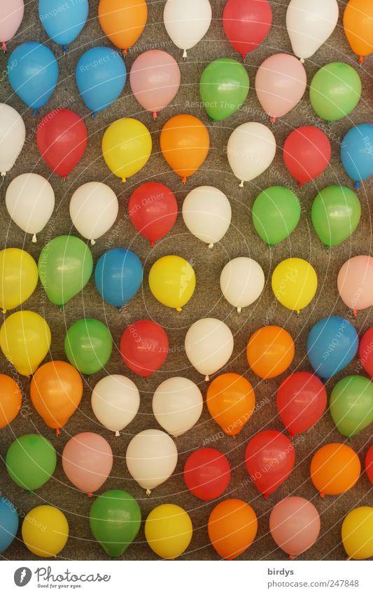 Nein,das ist keine Fototapete... Kinderspiel Feste & Feiern Jahrmarkt viele mehrfarbig Freude Farbe Kindheit Schießbude Wanddekoration Luftballon viele Farben