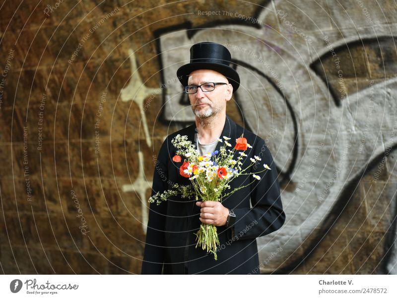 Warten | UT Dresden Einsamkeit Erwachsene maskulin elegant 45-60 Jahre Hut Zylinder