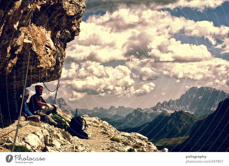 ...bei den sieben Zwergen... Mensch Wolken Erwachsene Ferne Erholung Landschaft Sport Berge u. Gebirge Freiheit Freundschaft maskulin Ausflug Abenteuer Klettern