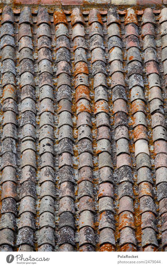 #A# Dachziegel Kunst ästhetisch Muster mediterran Frankreich Provence Bonnieux ziegelrot viele Reihe Farbfoto Gedeckte Farben Außenaufnahme Detailaufnahme
